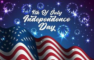 amerikanische Flaggenillustration zum Feiern des Unabhängigkeitstags vektor