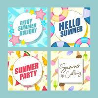 Sommerkarten-Designkollektion vektor