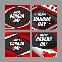 glückliche Kanada-Tageskarten-Design-Sammlung vektor