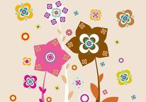 Rosa och Brun Blom Illustratör Bakgrund