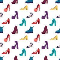 nahtloses Muster der Damenschuhe. Vektorillustration vektor