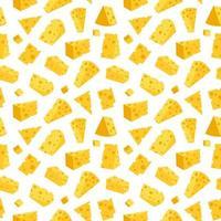 Käse nahtloses Muster. Vektorillustration vektor