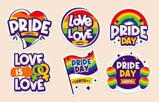 Pride Day Aufkleber Sammlung vektor