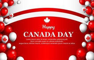 glücklicher Kanada-Tageshintergrund vektor