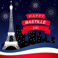 glückliche bastille day illustration vektor