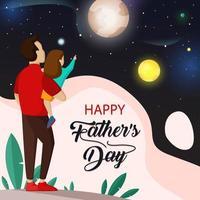 glückliches Vatertagskonzept vektor