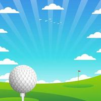 Golf mit Landschaftshintergrund vektor