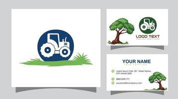 Traktor Anfangsbuchstabe o Logo und Visitenkarte vektor