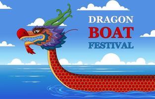 Drachenboot Festival Illustration vektor