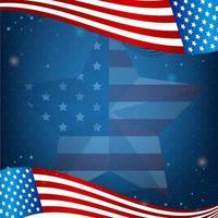 Schönheit amerikanische Flagge Hintergrund vektor
