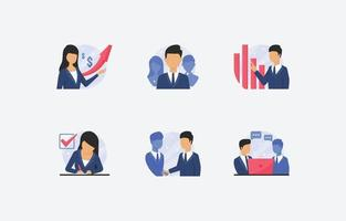 Satz von Geschäftsleuten Symbol vektor