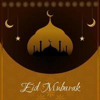 abstrakter heiliger eleganter dekorativer Hintergrund für eid mubarak vektor