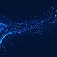 Wellenhintergrund des abstrakten glänzenden Funkelns blauer vektor