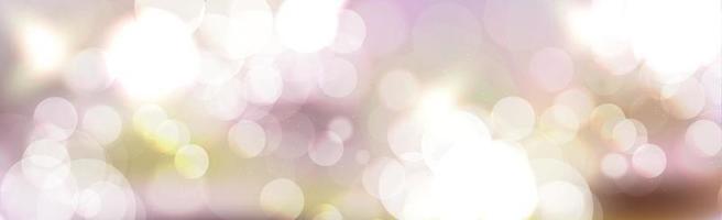 mehrfarbiges unscharfes Bokeh auf Panoramahintergrund vektor