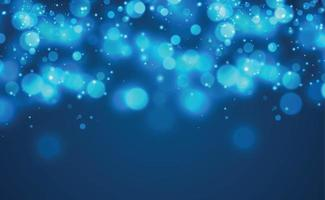 vit suddig bokeh på blå bakgrund - vektor