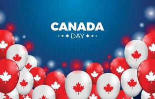 Kanada-Tag mit Ballons und funkelnder Illustration vektor