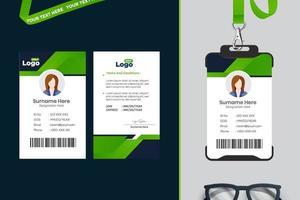 einfaches ID-Karten-Schablonendesign mit Vektor