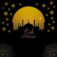 abstrakt helig elegant dekorativ bakgrund för eid mubarak vektor