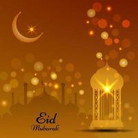 eid mubarak festival dekorativ bakgrund vektor