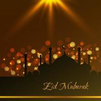 abstraktes eid mubarak islamisches Vektorhintergrunddesign vektor