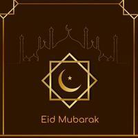 Eid Mubarak Festival dekorativen Hintergrund vektor