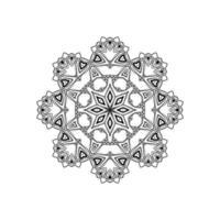 dekorativ mandala design isolerad bakgrund vektor