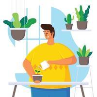 Gartenarbeit zu Hause vektor