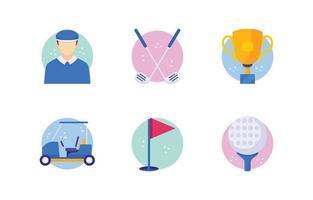 Golf Icon Set vektor
