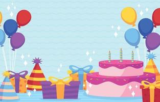Grattis på födelsedagen bakgrund vektor