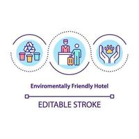 umweltfreundliche Hotelkonzeptikone vektor