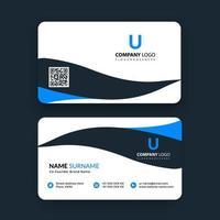 kreative doppelseitige Visitenkartenvorlage vektor