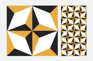kakel portugisiska mönster antik sömlös design i vektorillustration vektor