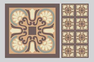 Fliesen portugiesisches Muster antikes nahtloses Design in der Vektorillustration vektor