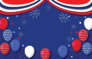 Feiern Sie den 4. Juli Hintergrund vektor
