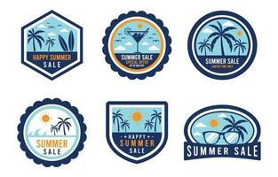 Sommerverkaufsabzeichen vektor