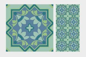 vintage tegel mönster antik sömlös design i vektorillustration vektor