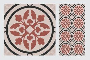 Vintage Fliesenmuster antikes nahtloses Design in der Vektorillustration vektor