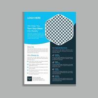 unik kreativ affärsreklambladblad mall vektor