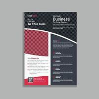 röd professionell och modern affärsdesign reklamblad broschyr mall design vektor