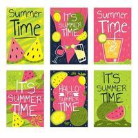 Sommerzeitkartenkonzept vektor