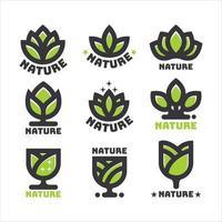 natürliches Logo-Konzept vektor
