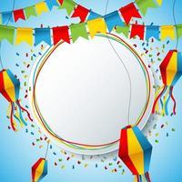 bunter festa junina Hintergrund vektor