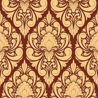 Blumen Damast Muster Hintergrund vektor