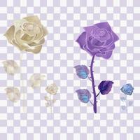 Roségold und lila transparent vektor