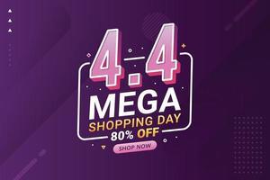 Flash Sale Banner Shopping Day Hintergrund für Business Retail Promotion vektor
