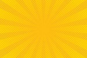 abstrakter gelber Halbton-Comic-Zoomhintergrund vektor