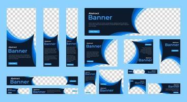moderne Banner Vorlage mit Standardgröße für Werbung vektor