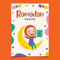 handritad illustration för ramadan kareem och islamisk kultur vektor
