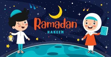 Hand gezeichnete Illustration für Ramadan Kareem und islamische Kultur vektor