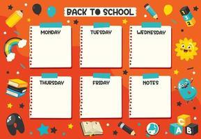 Tages- und Wochenplaner für Kinder vektor